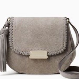 KATE SPADE Adalise crossbody flap bag Hare gray